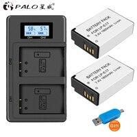 PALO 2Pcs LPE17 LP E17 LP E17 camera Battery+LCD USB Dual Charger for Canon EOS M3 M6 200D 750D 800D 8000D 760D T6i T6s Kiss X8i