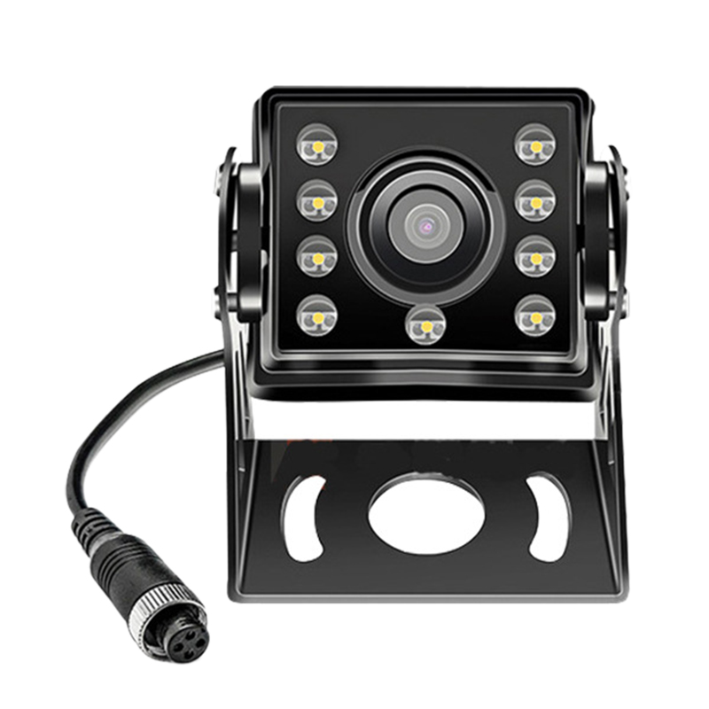 12V-24V 4Pin Bus Truck Heavy Duty Waterproof Or Night Reversing Camera CCD Color 8 LED