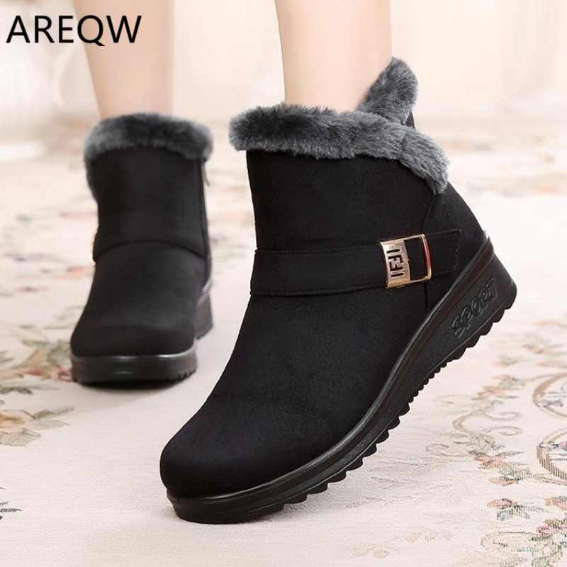 Ankle Boots for Women Boots Fur Warm Snow Boots Female Winter Shoes Women Waterproof Padded Boots Winter Booties Women Footwear
