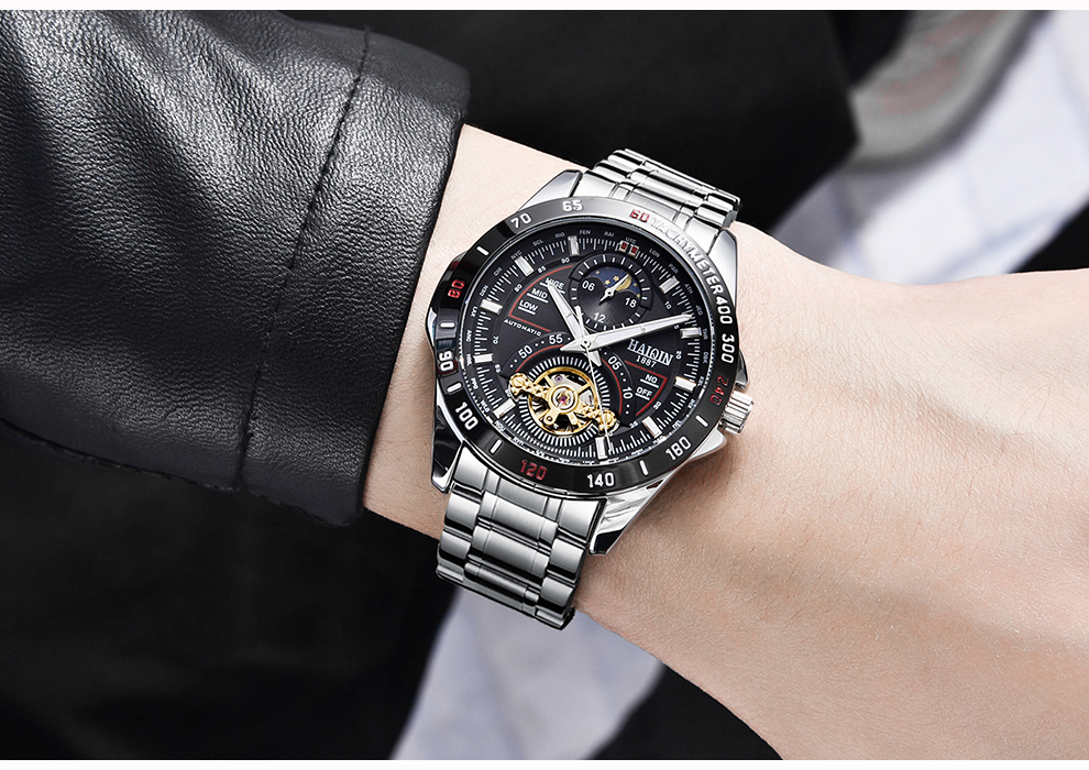 HAIQIN Men's/mens watches top brand luxury watch men mechanical Military waterproof wristwatch mens Tourbillon reloj hombre 2019 H17324aca4e024af59712c89dd7c11642y