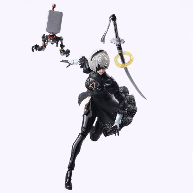 NieR Automata YoRHa No. 2 Type B 2B Fighting Action Figure PVC Toys Collection Doll Anime Cartoon Model For Christmas Gift 14CM