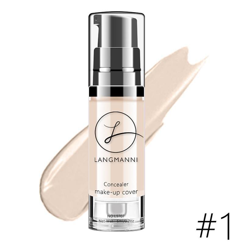 Langmanni макияж тональный крем Жидкий тональный, для придания яркости коже цвета из водонепроницаемого материала; Макияж BB крем отбеливающий к...