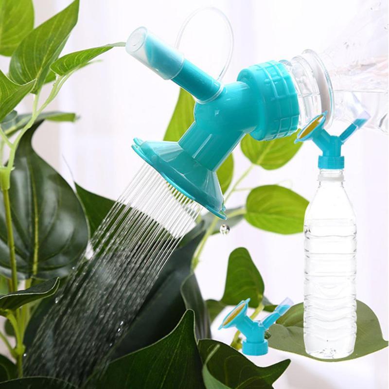 2In1 Plastic Sprinkler Nozzle Watering Bottle Water Cans For Flower Irrigation Watering Bottle Head Garden Tools