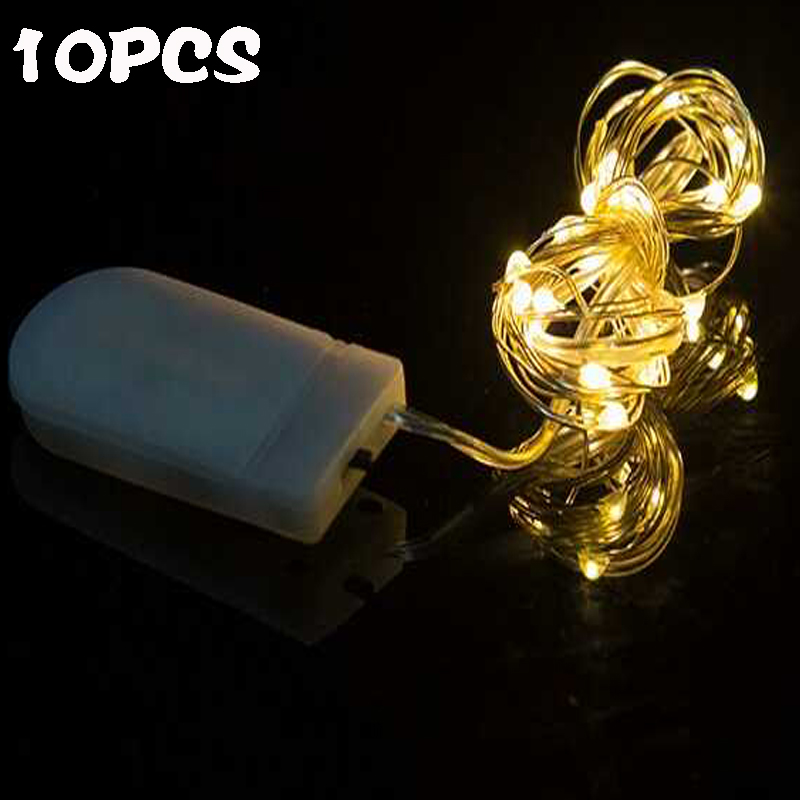 10Pcs 1M 2M 5M LED Garland String Lights Copper Wire Fairy Light Lamp For Christmas Tree Wedding Party Indoor Decoration