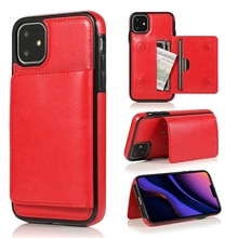 PU Retro Leather Phone Case For Apple IPhone 11 Pro Max X Xs Xr Xsmax Holder Slot Card Full Back Cover Shell New 2019