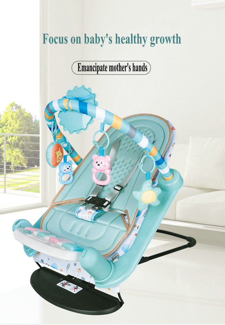 H17328113127b45e7a01974b0d6d363aaN Baby Rocking Chair Newborn Electric Toy Fitness Frame Children Music Folding Swing Multifunction Comfortable Recliner Rattle