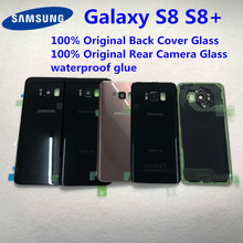 For Samsung Galaxy S8 Plus S8+ G950 G955 100% Original Battery Back Cover Glass Door Housing Rear Camera Glass S8 Rear cover