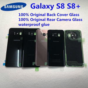 Image 1 - For Samsung Galaxy S8 Plus S8+ G950 G955 100% Original Battery Back Cover Glass Door Housing Rear Camera Glass S8 Rear cover