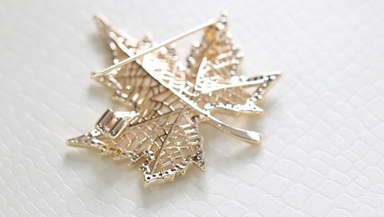 Green Enamel Brooch Four Leaves Clover Maple Leaf Brooch CLOVER JEWELLERY
