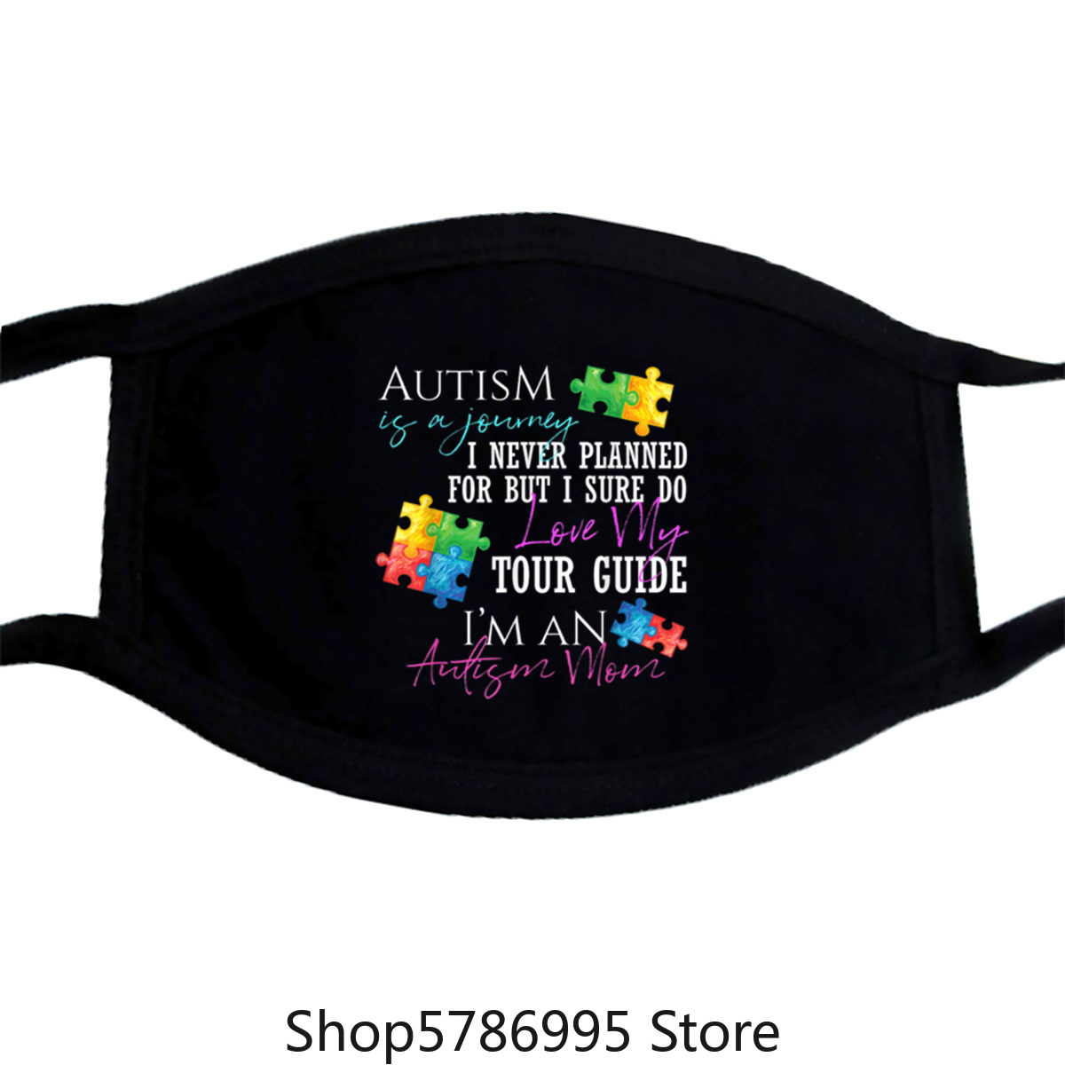 Premium Autism Is A Journey Autism Awareness Mom Mask