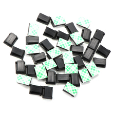 Clips-Holder Cable-Clamp Self-Adhesive Wire-Tie Plastic 20pcs Rectangle