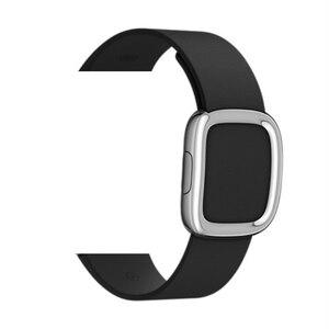 Image 2 - Lederen Band Voor Apple Horloge Band 4 5 44Mm 40Mm Moderne Gesp Bands Voor Iwatch Serie 3 2 1 Band 42Mm 38Mm