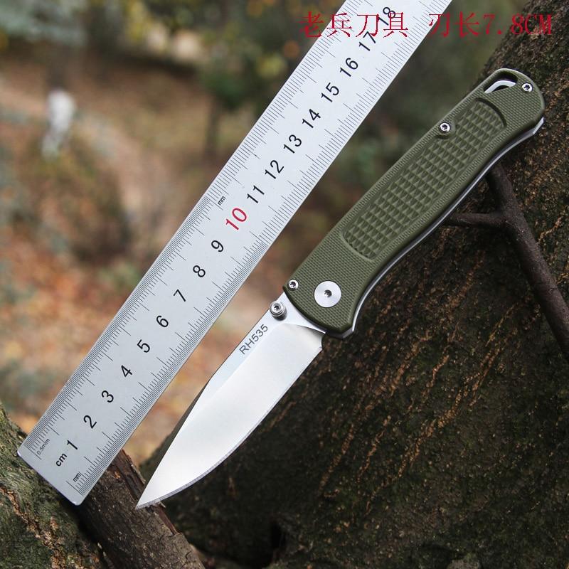 Mack Walker RH535 VG10 Steel Folding Knife G10 Handle Ball Bearing Pocket Camping Self-defense Rescue Walking Hunting Tools