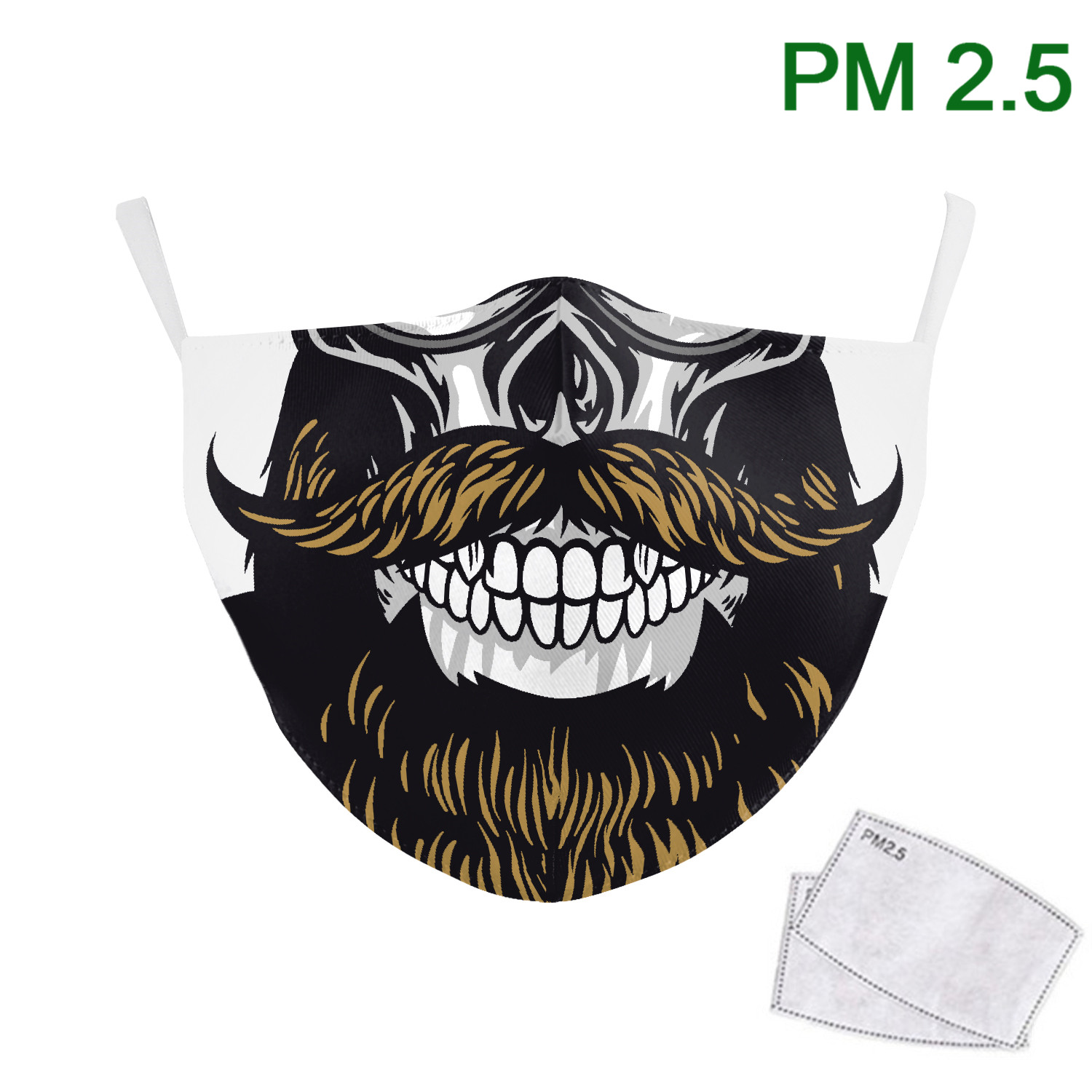 Classic Funny Mouth Moustache Print Face Mask Adult Washable Masks Fabric Adult Outdoor Mouth Cover PM2.5 Protective Dust Masks