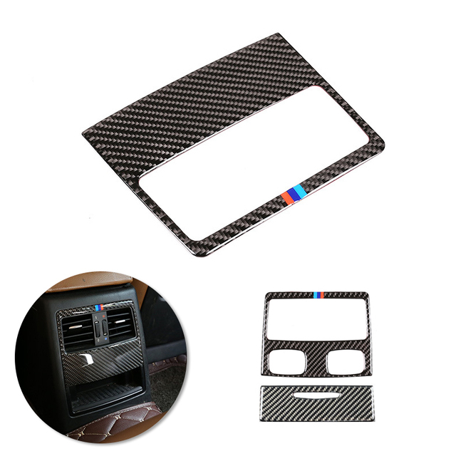 For BMW 3 Series E90 2005 2006 2007 2008 2009 2010 2011 2012 Carbon Fiber Car Rear Air Condition Vent Air Outlet Frame Cover