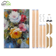 24 Sizes Diy Natural Wooden Picture Frame Canvas Frame Bar For Canvas Wall Art Unframed Mirror Frame Home Decoration Photo Frame