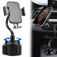 360 Degree Holder Stand Fit for Device Width 9.5cm Smartphone Adjustable Car Cup Cradle Cell Phone holders Stands Accessories
