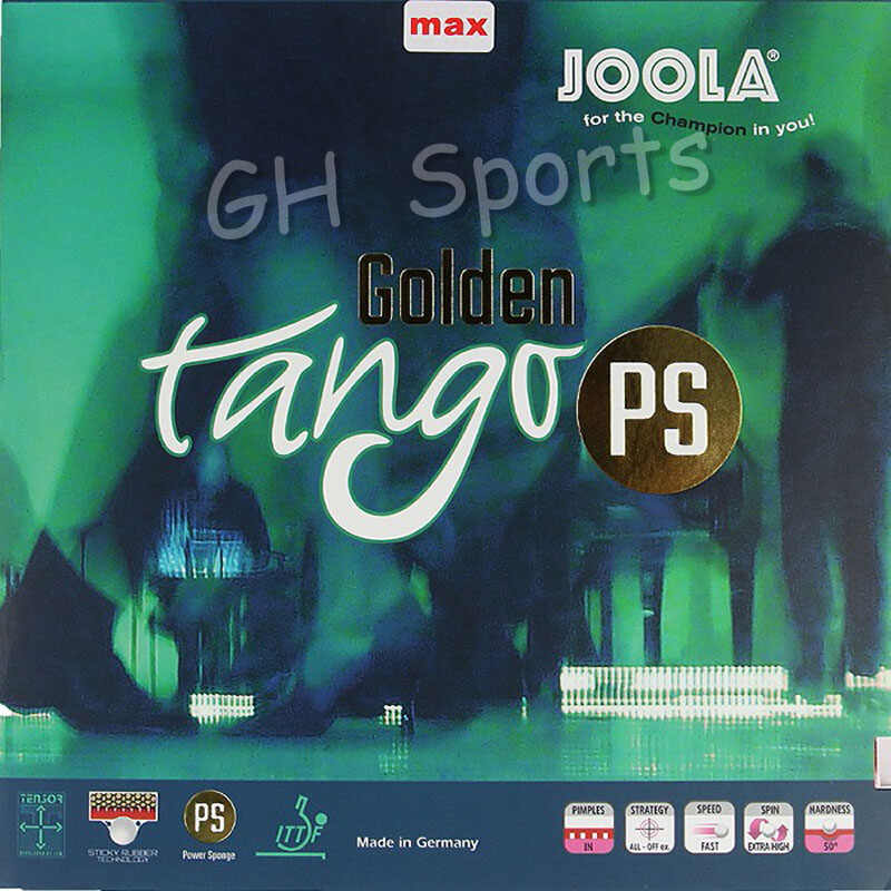 Joola Golden Tango PS POWER SPONGE (Sticky Forehand Offensive) Table Tennis Rubber Pips-in Ping Pong Sponge