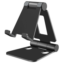 SeenDa Aluminium Alloy Phone Stand for Huawei iPhone Xiaomi Universal Foldable & Rotatable Phone Holder Tablet Stand for iPad