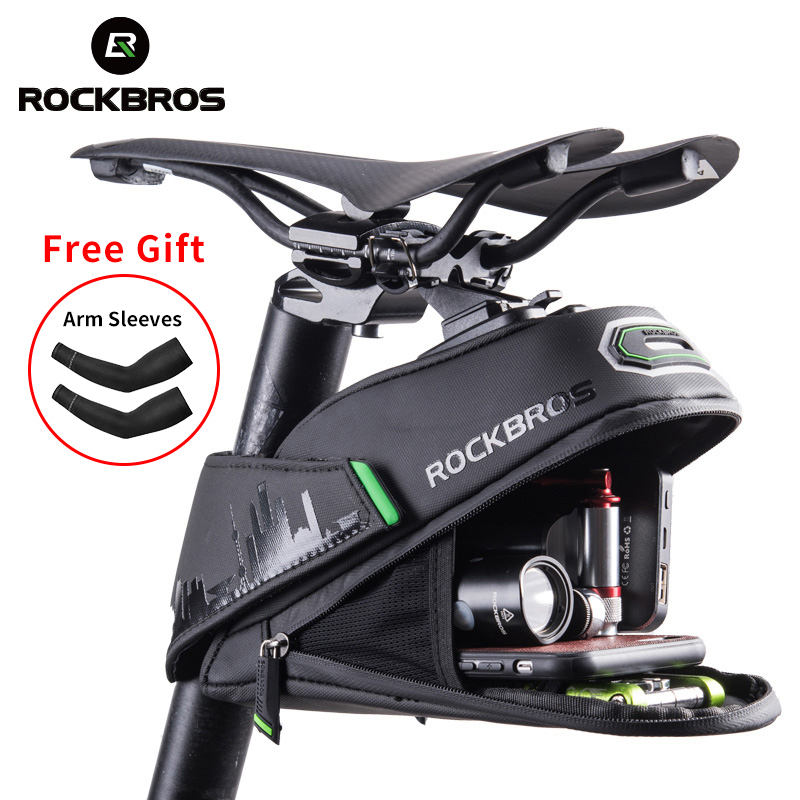 ROCKBROS Rainproof Bicycle Bag Shockproof Bike Saddle Bag For Refletive Rear Large Capatity Seatpost MTB Bike Bag Accessories remote control charging helicopter