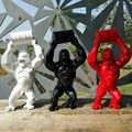 16 Grote Creatieve King Kong Decoratie Art Craft Dier Simulatie Hars Standbeeld Gorilla Buste Figuur Model Speelgoed Doos 40 cm Collectible