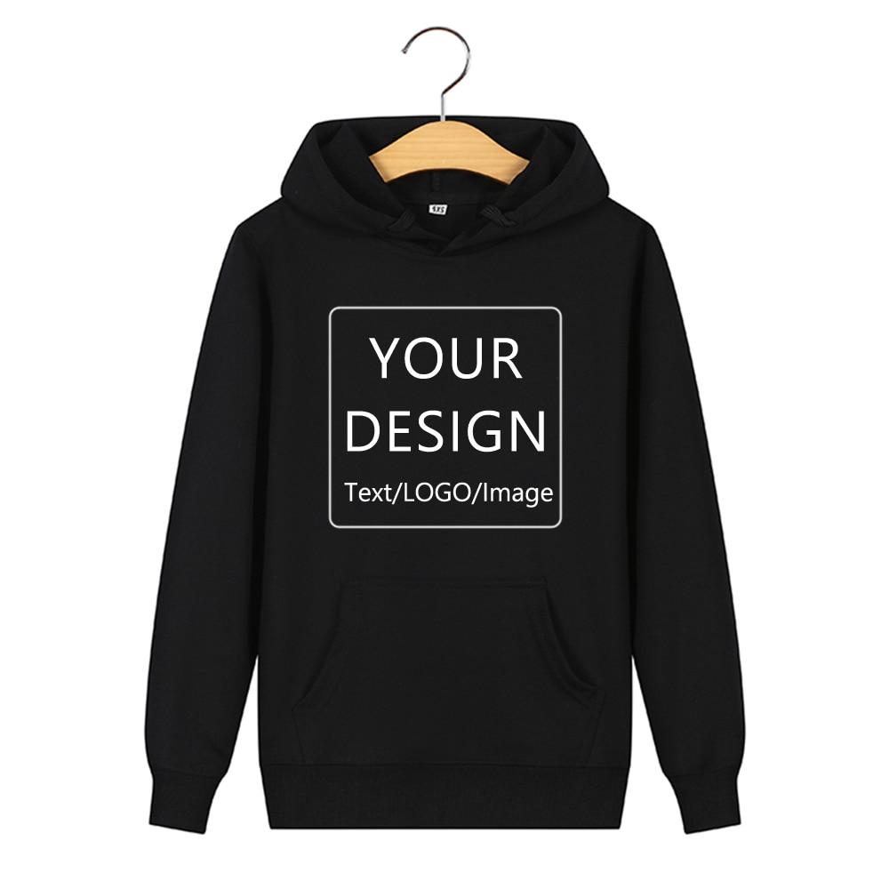 Custom Sweatshirt Logo Print Hooded Hoodies Customized Sweatshirt Cotton Streetwear Warm Clothes Best Gift Couples Hoody