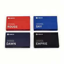 Fountain-Pen-Ink Cartridges Kaco Office-Supplies Black Blue Red 6pcs 1-Box Large-Capacity