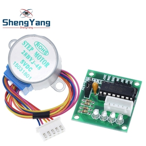 TZT 1LOTS 28BYJ-48-5V 4 phase Stepper Motor+ Driver Board ULN2003 for Arduino 1 x Stepper motor +1x ULN2003 Driver board(China)