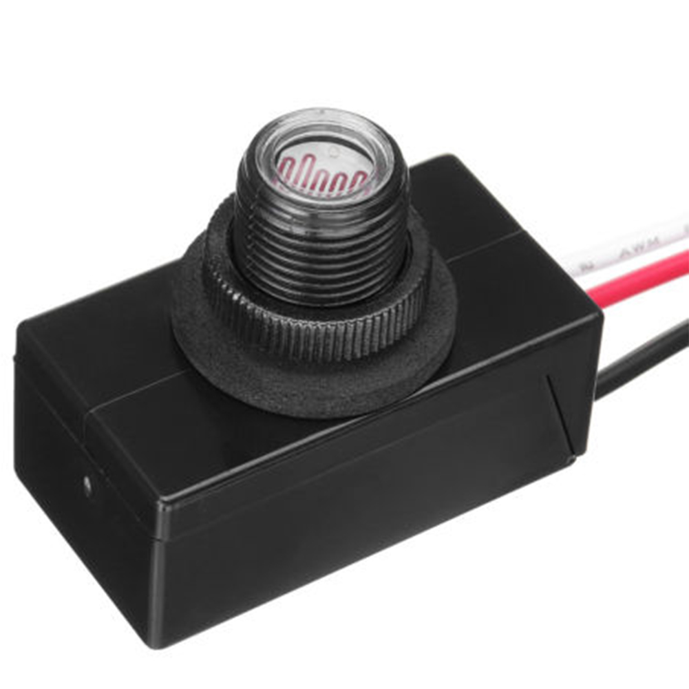 120VAC 50/60Hz Light-operated Switch Thermosensitive Photoswitch Button Flush Mount Rainproof Delay Type Dusk Dawn Auto On Off(China)