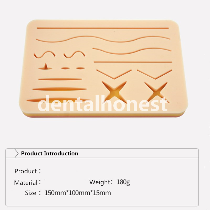 Skin Suture Practice Silicone Pad With Wound Simulated Surgical Training Kit Teaching Equipment