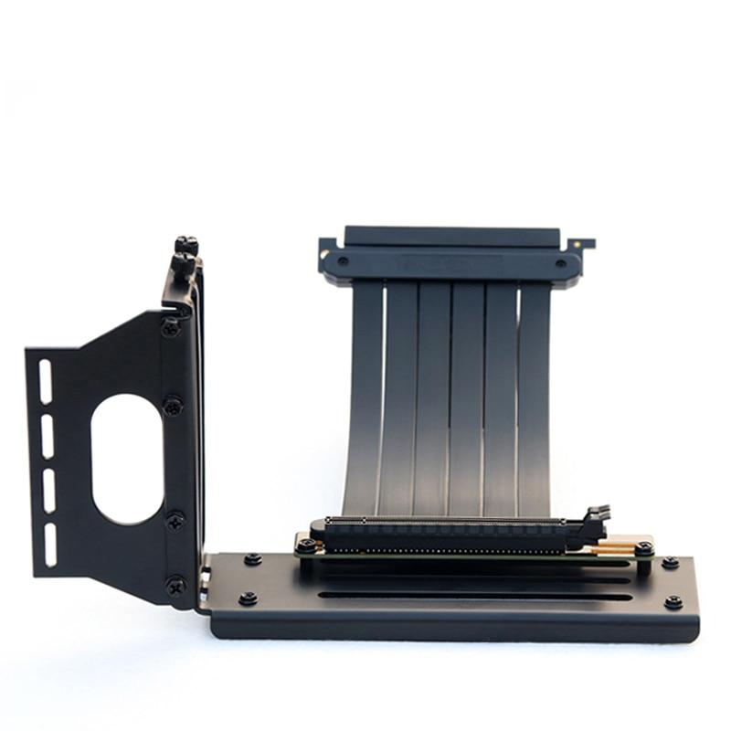 Hlx pcie 3.0 riser de alta velocidade placas gráficas pci express cabo extensor 16x gpu riser com kit vertical chassi atx