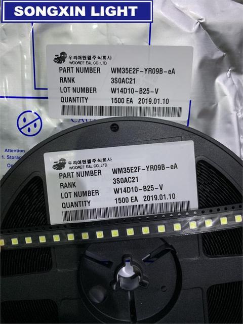 1600 個wooree ledバックライト 2 ワット 6v 3535 150LMクールホワイトWM35E2F YR09B eA lcdバックライトテレビtvアプリケーション