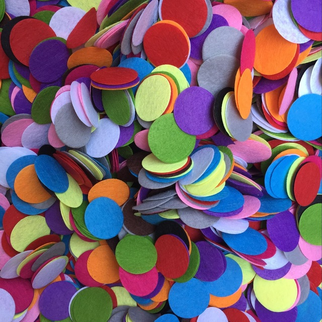 100PCS/Lot 1cm 2cm 3cm 4cm Non-woven fabric round shape Kids crafts and arts Handmade DIY toys Kindergarten crafts material OEM