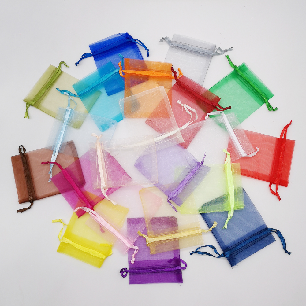 50pcs Gift Bag 7x9cm Small Organza Gift Bags For Packaging Display Storage Bag Pouches Wedding Jewelry Christmas Gift Bag Diy