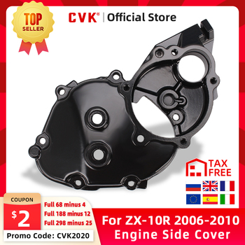CVK Engine Cover Motor Stator Cover CrankCase Side Cover Shell For Kawasaki ZX-10R 2006 2007 2008 2009 2010 ZX10R ZX 10R 06-10 radiator guard cover grille protector for kawasaki ninja zx 10r 2008 2009 2010 2011 2012 2013 2014 2015 zx10r