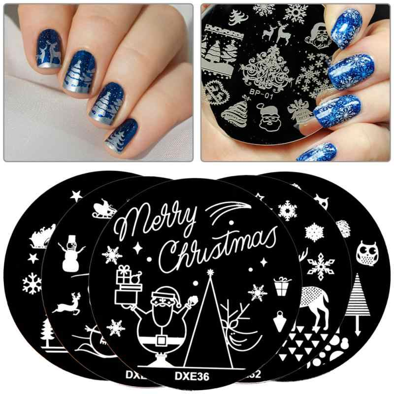 30 Style Nails Art Stamp Image Plate Stamping Template Manicure Decor DIY Christmas Style Nail Tips DIY Nail Art Templates Tools