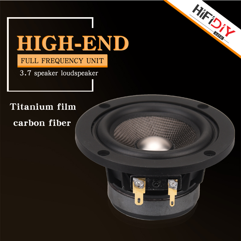 HIFIDIY LIVE Hifi 3.7 Inch 93mm Full Frequency Speaker Unit 4 OHM 30W High Alto Bass Loudspeaker P3-93 Titanium Carbon Fiber
