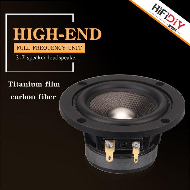 HIFIDIY لايف hifi 3.7 بوصة 93 مللي متر كامل التردد المتكلم وحدة 4 أوم 30 واط عالية ألتو باس مكبر الصوت P3 93 التيتانيوم ألياف الكربون