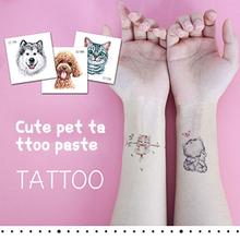 1 sztuk moda dzieci dziewczyna zwierząt tymczasowe naklejki z tatuażami słodki kociak Cartoon tymczasowy wodoodporny tatuaż naklejki TSLM1 tanie tanio CN (pochodzenie) 60* 60mm Temporary Tattoo Sticker 6 *6 *0 1cm Neck Hand Shoulder Waist Sleeve Back Waterproof Sweatproof