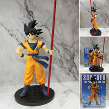 20th Anniversary Porrete De Dragon Ball Z Goku Sun Golden Dragon Ball Super Saiyan Goku Action Figure Anime Estatueta Boneca Modelo(China)