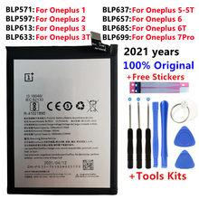 100% bateria de substituição original para oneplus um 1 + um mais para oneplus 2 3 1 + 3 mais 3t 5t 6 6t 7pro 7 mais baterias