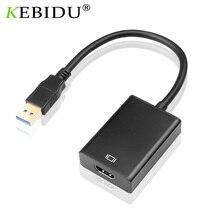 ไดรฟ์ฟรี USB 3.0 To HDMI Audio Video Adapter สายแปลง1080P 60HZ ความเร็วสูง5 gbps สำหรับ Windows 7/8/10 PC