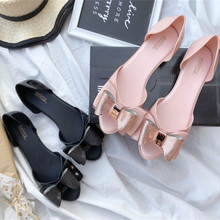 Summer Sandals Jelly-Shoes Open-Toe New Melissa Ladies Flat Fashion SHW061 Same-Bow Fish-Mouth