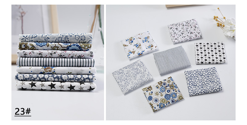 H173567422f424853a9d2bf2b1df36409E 25x25cm and 10x10cm Cotton Fabric Printed Cloth Sewing Quilting Fabrics for Patchwork Needlework DIY Handmade Accessories T7866