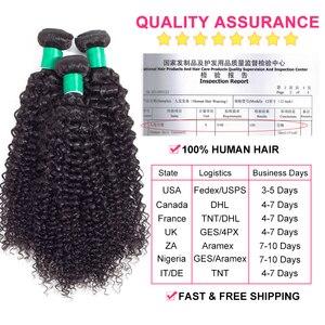 Image 2 - Gabrielle Brasilianische Verworrene Lockige Bundles 5 teile/paket 100% Menschliches Haar Extensions Doppel Tressen 8 28 zoll