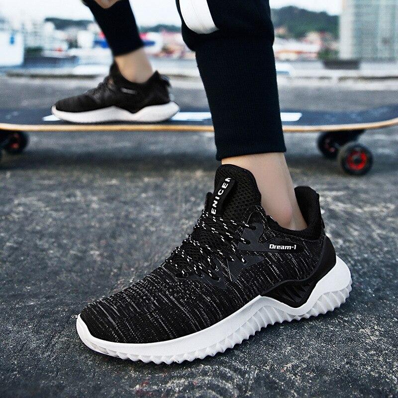 Maa hommes chaussures décontractées mode respirant marche maille chaussures plates baskets hommes 2019 nouvelle tendance mode pas cher couleur de à lacets # CA2nd001