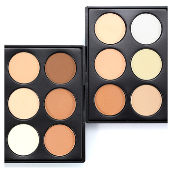 6 Colors Face Cream Contour Makeup Palette Concealer Highlighter Cosmetic Beauty Tool Waterproof Whitening Skin Finish Concealer