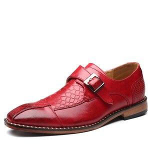 Image 3 - 2020 Bộ Đồ Nam Giày Khóa Kinh Doanh Skyle Oxfords Chính Thức Giày Da Cưới Sang Trọng Cho Nữ Size Lớn