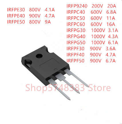 10PCS/LOT IRFP9240 IRFPC40 IRFPC50 IRFPC60 IRFPG30 IRFPG40 IRFPG50 IRFPF30 IRFPF40 IRFPF50 IRFPE30 IRFPE40 IRFPE50  TO-247