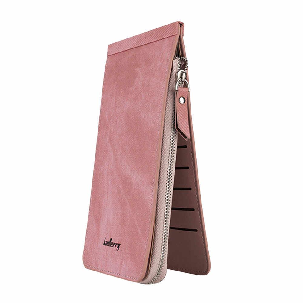 Maison fabre ретро искусственная кожа Для женщин кошелек женский кошелек, длинный, кошелек для карточек простой Стиль тонкие кошельки женский держатель для карт по низкой цене